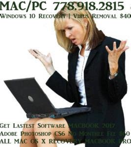 Computer Service Vancouver Fix Repair MACBook OS Recovery