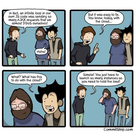 True story: fixing a self-DDoS | CommitStrip