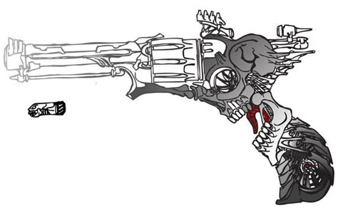 Skull Revolver by SWWDED on Newgrounds