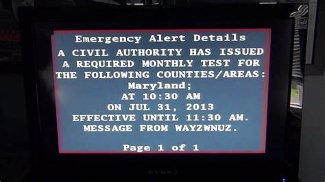 Emergency Alert System - Required Monthly Test #2 - YouTube