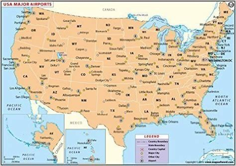 Us Airport Map | Weather map