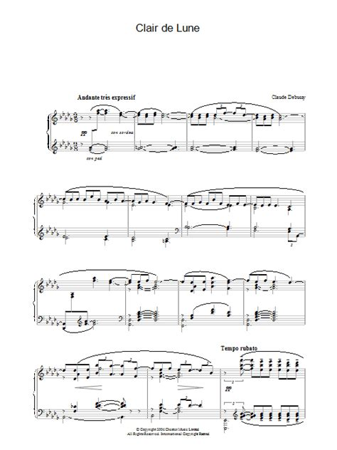 Clair De Lune (from Suite Bergamasque) Sheet Music