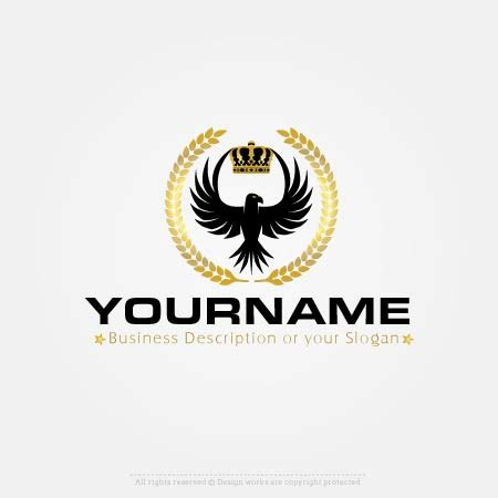 Make own Eagle crown Logo with Our logo Online Maker Free