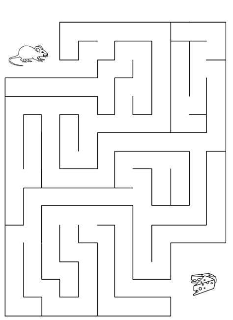 Labyrinthe, souris et fromage - Tipirate