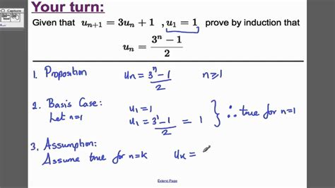 Proof by Induction - Recurrence relations (3) FP1 Edexcel
