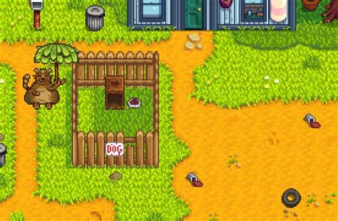 Stardew Valley - Cleaning Up the Trash in Town (Trash Bear)