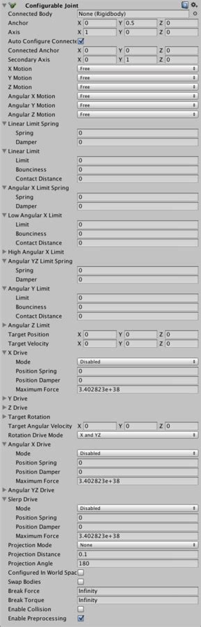 Unity - Manual: Configurable Joint