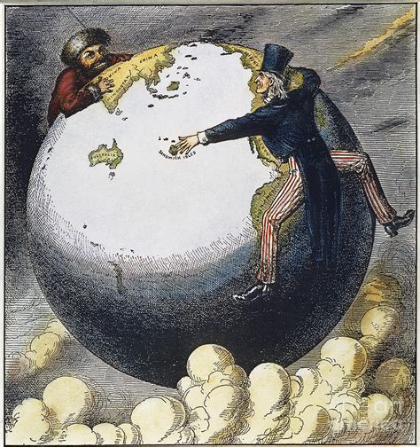 Imperialism Cartoon, 1876 Photograph by Granger