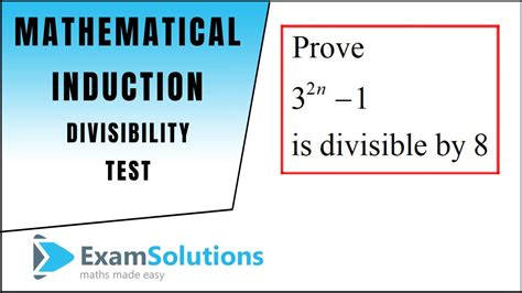 Mathematical Induction - Divisibility Tests (1
