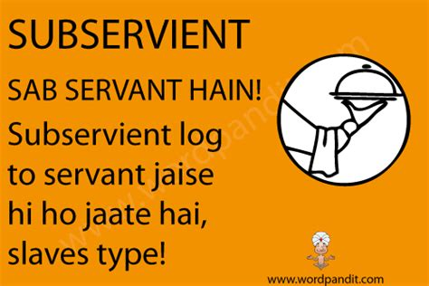 Meaning of subservient