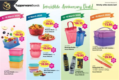 Tupperware Brands Anniversary Deals Promotion (9 March