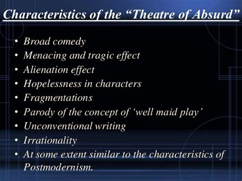 """My presentation on """"Influence of Theater of Absurd in the"""