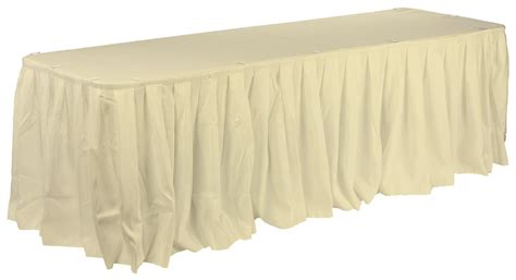 Wedding Table Skirts | 6 & 8 Foot Table Covers - Ivory