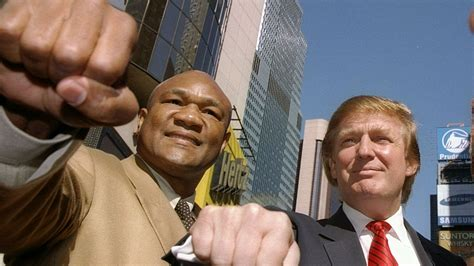 George Foreman has some fighting words for President Trump