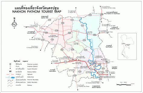 Nakhon Pathom maps – Maps of Thailand, all maps of the