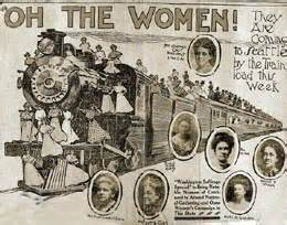 Suffrage Special arrives in Tacoma on June 29, 1909