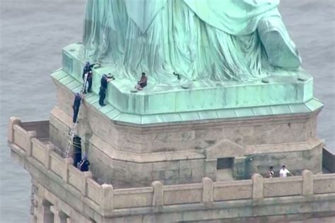 Statue of Liberty climber pleads not guilty after
