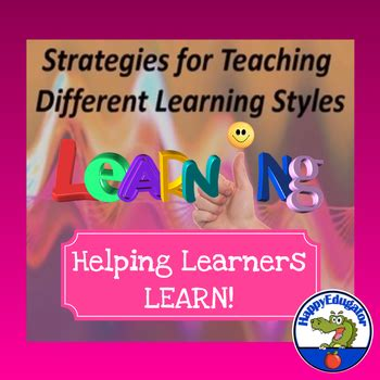 Strategies for Teaching Different Learning Styles