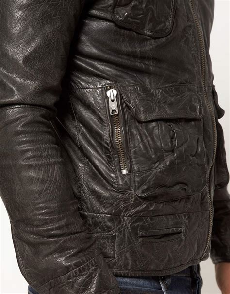 Lyst - Superdry Tarpit Leather Jacket in Black for Men