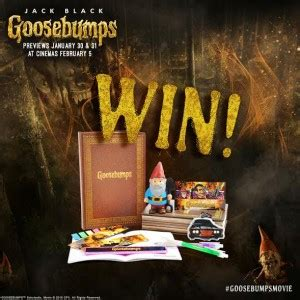 Goosebumps Goodies up for Grabs!!!