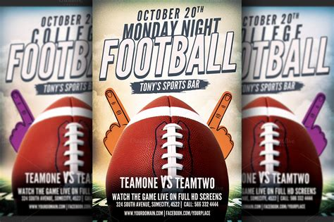 American Football Flyer Template ~ Flyer Templates on