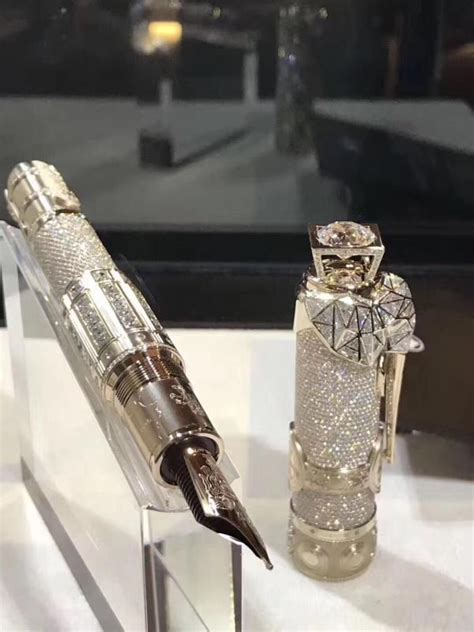 The collectors of Montblanc expensive pens, both its