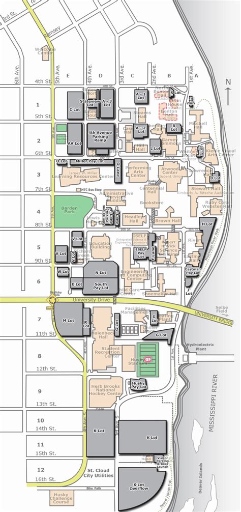 Campus Map - Parking | St