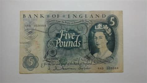 Bank Of England 1950 S Five Pound Bank Note Postage