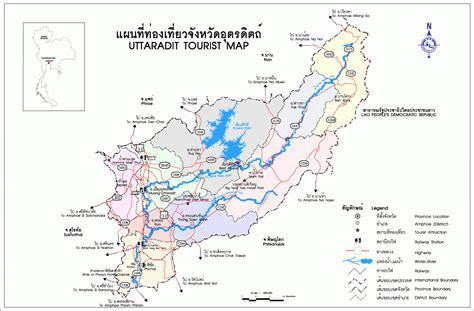 Uttaradit maps – Maps of Thailand, all maps of the country