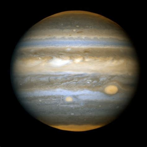 Jupiter, the fifth planet from the sun and the largest in