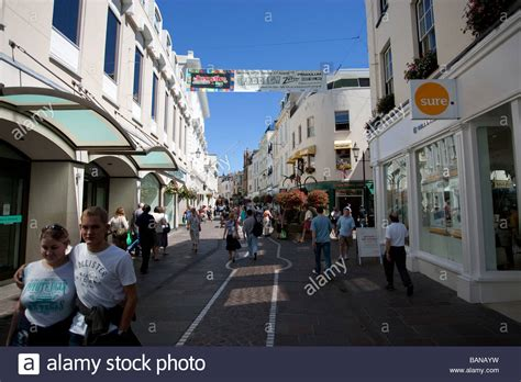 Shopping centre of St Helier capital of Jersey ,The