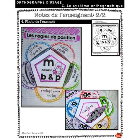 *Cahier interactif #2: Orthographe d'usage